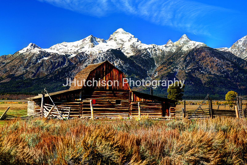 Moultan Barn and the Tetons