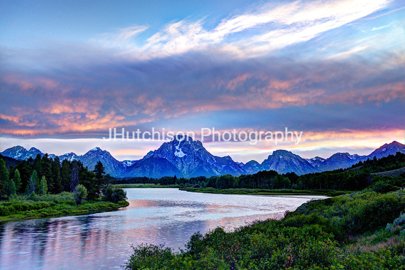 Dusk at Oxbow Bend