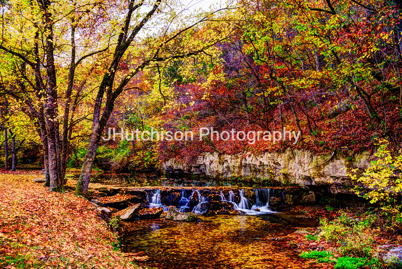 Colorful Autumn Stream in Dogwood Canyon