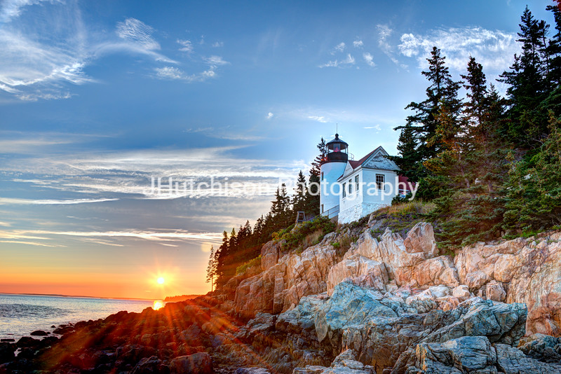 Sunset at Bass Harbor Light