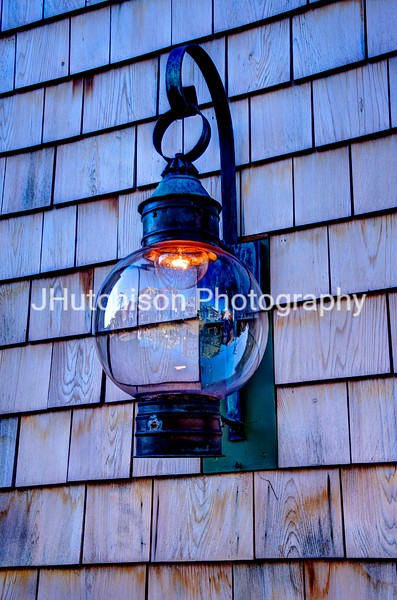 Lamp On Rockport Building