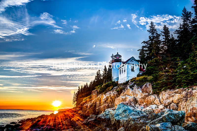 Bass Harbor Head Light at Sunset