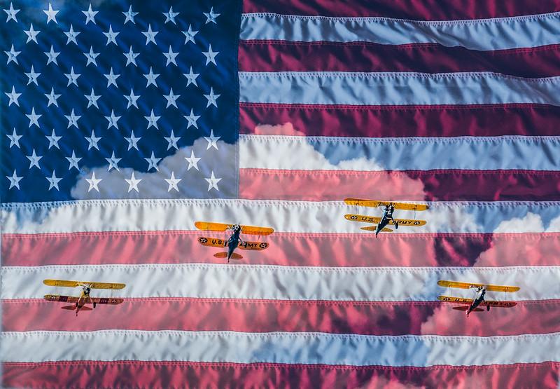 Patriotic Planes on Parade