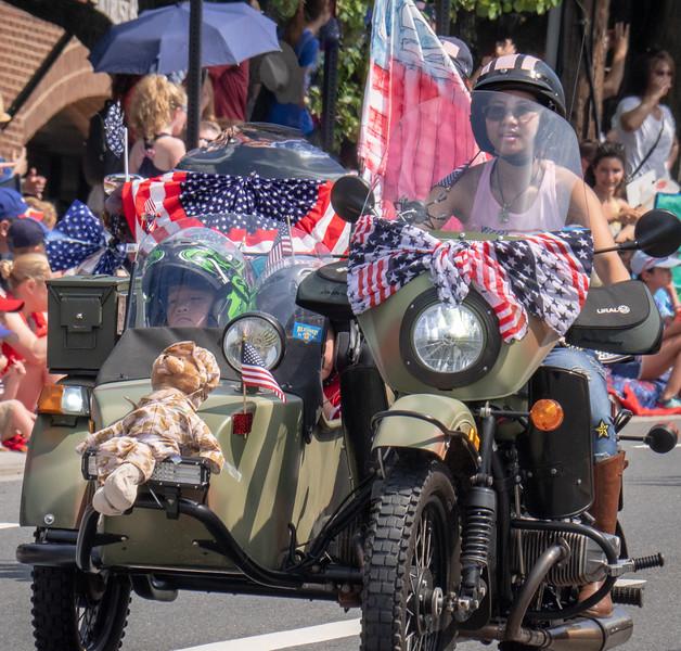 Patriotic Side Car