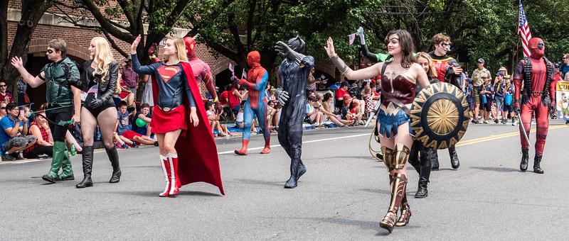 Super Heros on Parade