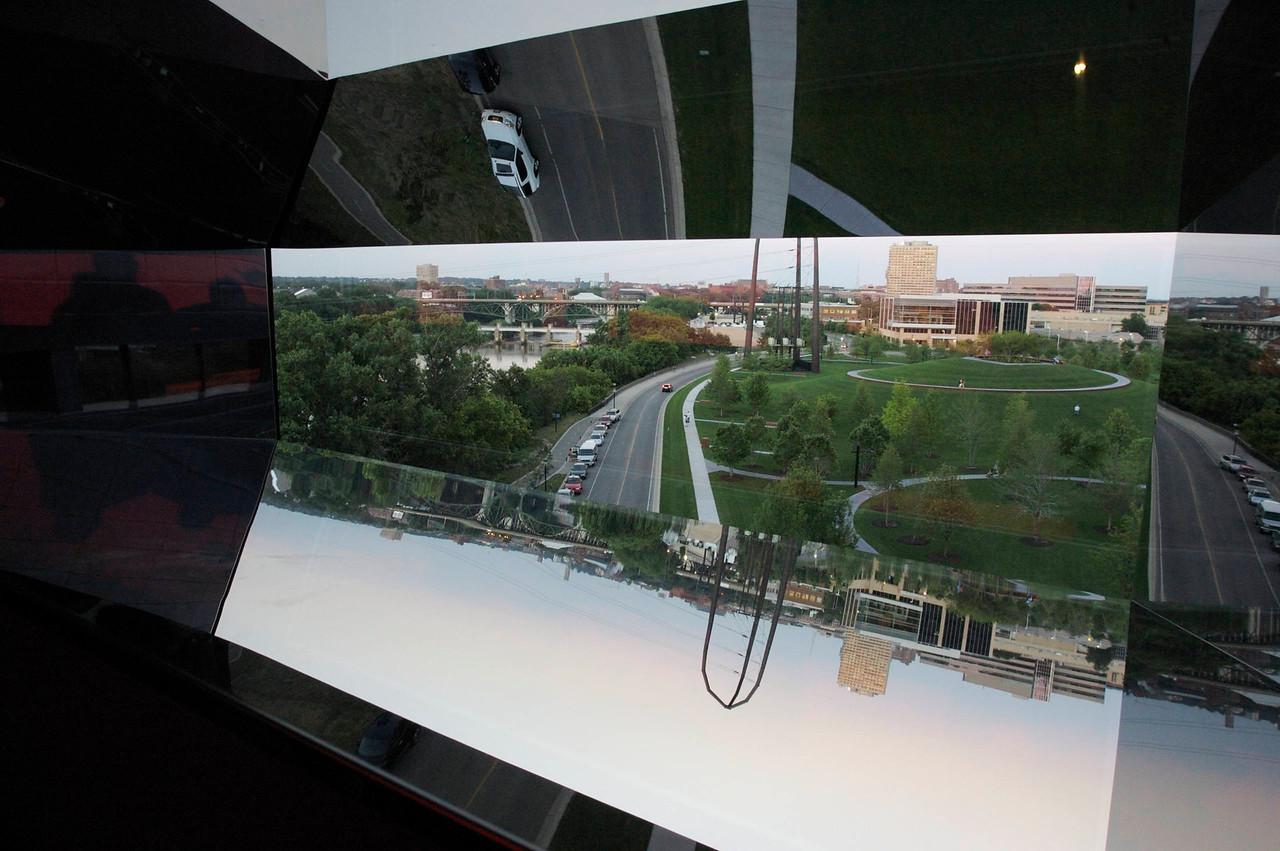 """Vane multi-mirror technique with """"found"""" mirrors, Minneapolis, MN."""