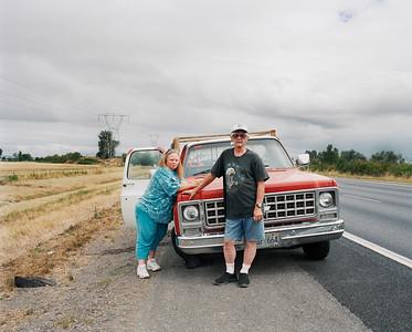 Lori and Ron, Interstate 5, Oregon, 2007