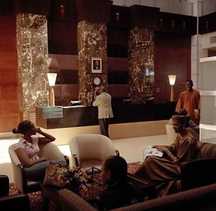 RWANDA. Kigali. lobby  at the Hotel Intercontinental. 2004.