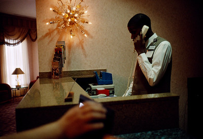 USA. Tunica, Mississippi. 2007. Worker at casino hotel.