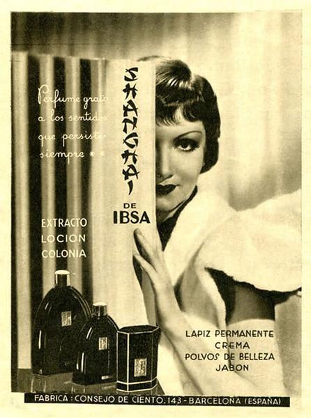Shanghai de IBSA 1935 Spain 'Perfume grato a los sentidos que persiste siempre'
