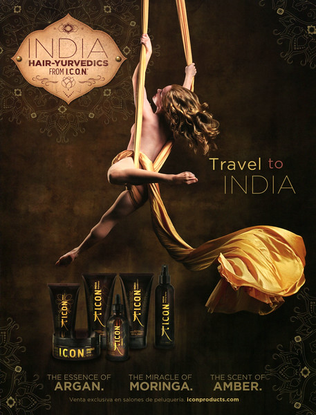 ICON India Hair-Yurvedics Oil 2017 Spain 'The Essence of Argan - The Miracle of Moringa - The Scent of Amber'