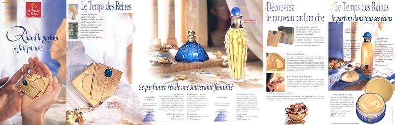 LE MONDE EN PARFUM by ID Le Temps des Reines 1998 France (6-face foldout) 'Quand le parfum se fait parure'