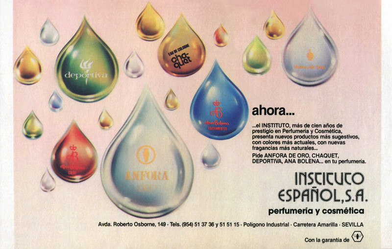 INSTITUTO ESPAÑOL Diverse (Ánfora de Oro - Chaquet - Deportiva - Ana Bolena) 1980 Spain half page