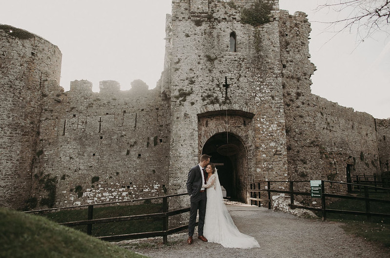 Manorbier Castle Wedding in Wales