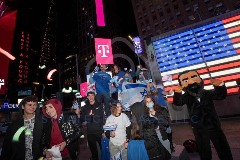 Israeli 73rd Independence Celebrations in Times Sq. 18 Apr 2021 New York, USA - 03 Mar 2021