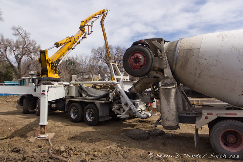 Day 50 - Concrete pumping operations.