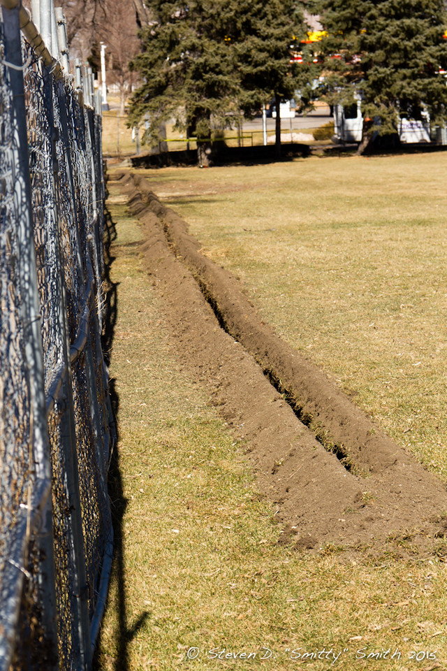 Day 5 - Ditch for the silt fencing.