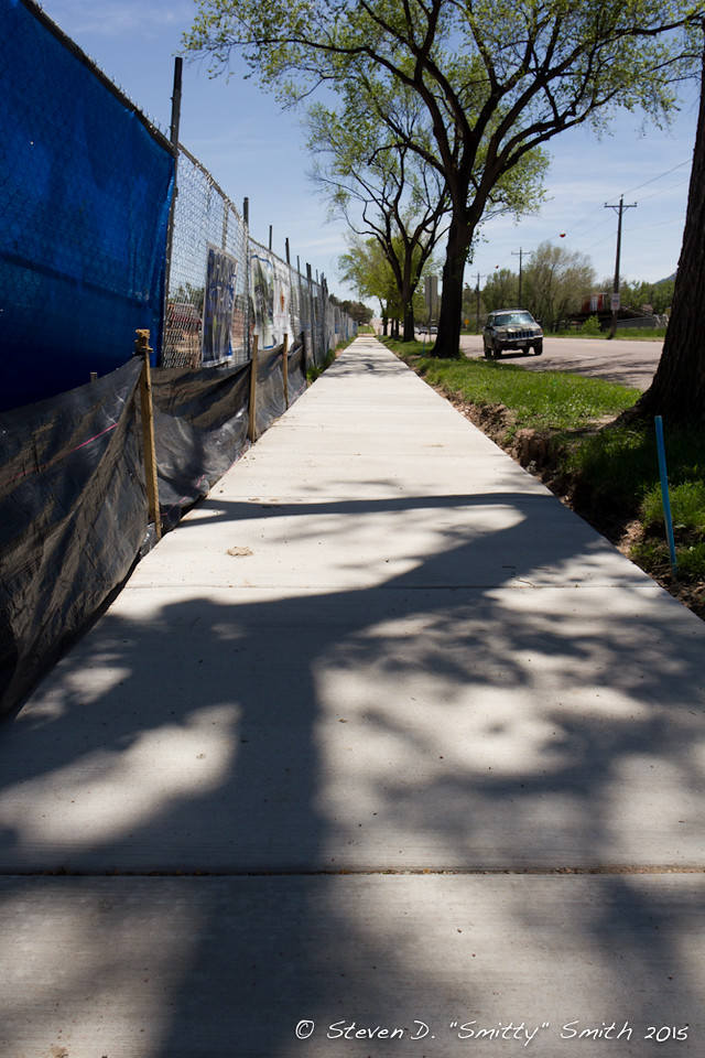 Day 114 - New sidewalk along Hancock Avenue.