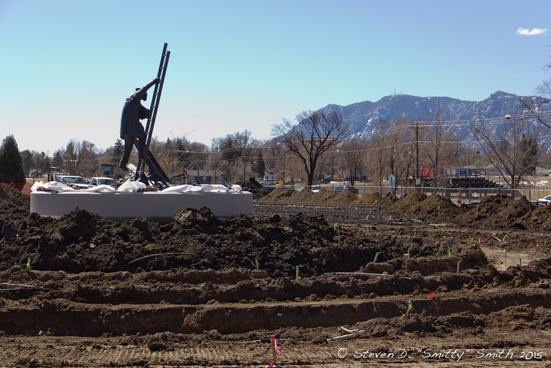 Day 30 - Excavating for the footers of the new Memorial walls.