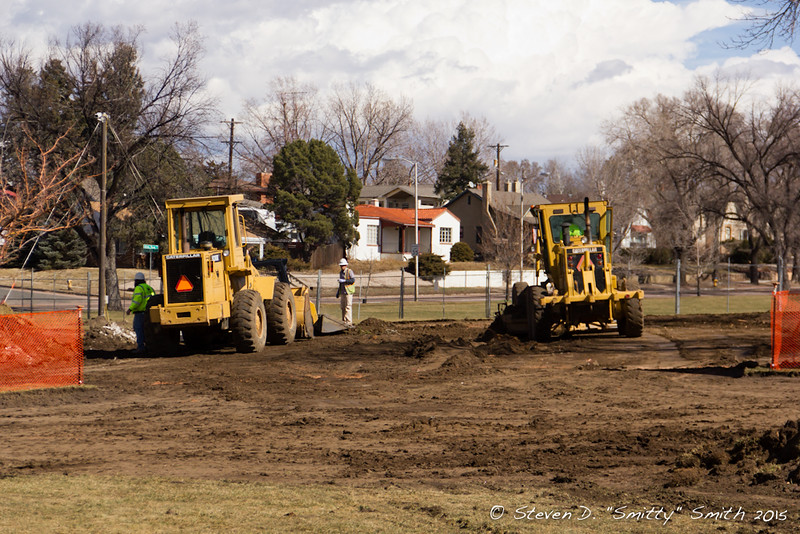 Day 12 - Loaders and graders moving dirt.