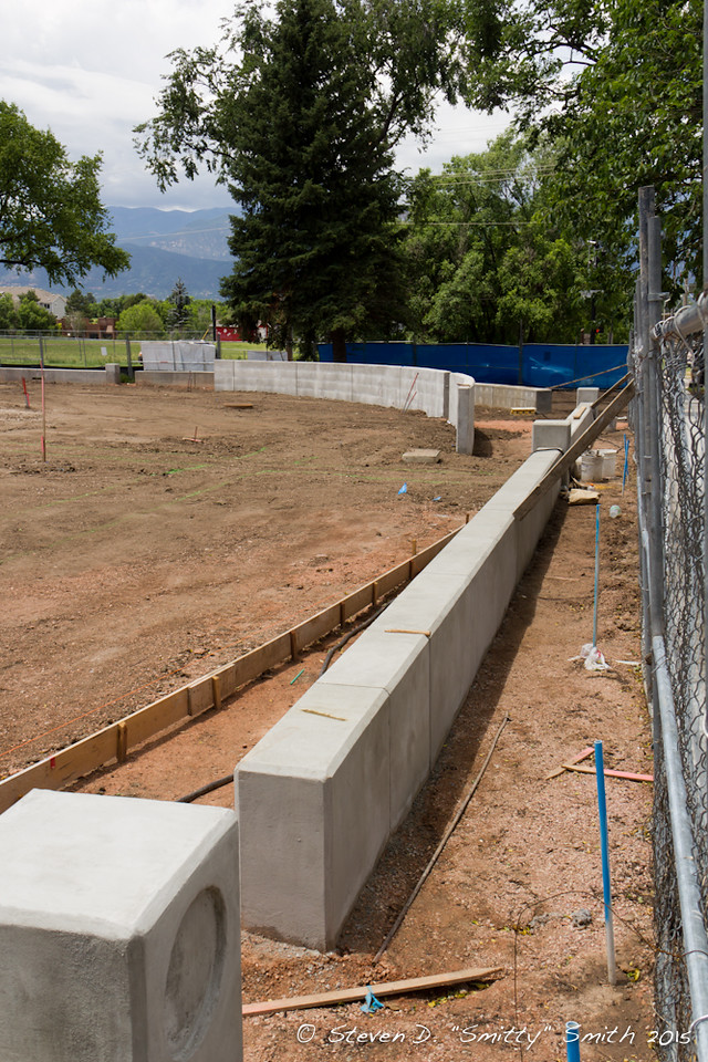 Day 144 - New sitting wall along Pikes Peak.