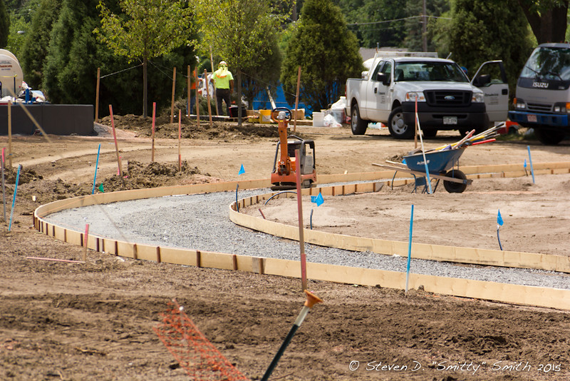 Day 144 - Forms in place for new walkways.