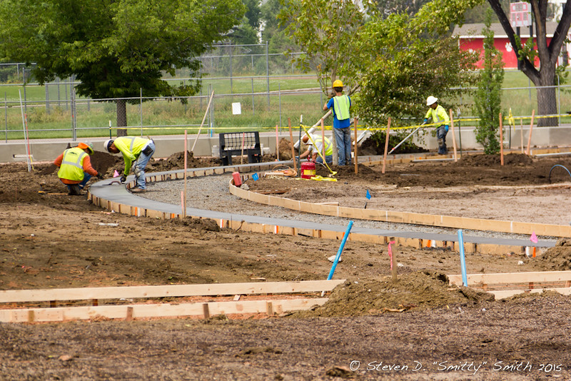 Day 150 - Installing new walkways around the Memorial.