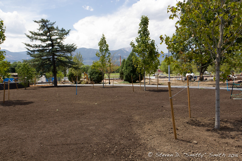 Day 159 - Ready for sod. Looking west from where the Honor Guard used to line up.