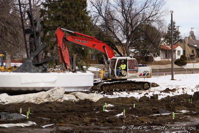 Day 25 - Excavating for the new walks and walls.