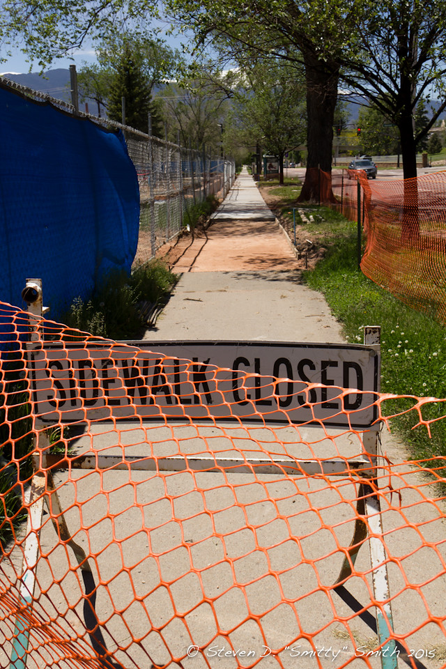 Day 114 - New sidewalk along Pikes Peak.