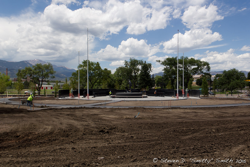 Day 159 - The Memorial is just about ready for sod!