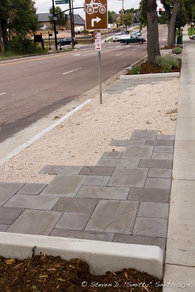 Day 192 - New pedestrian area along Hancock Ave.