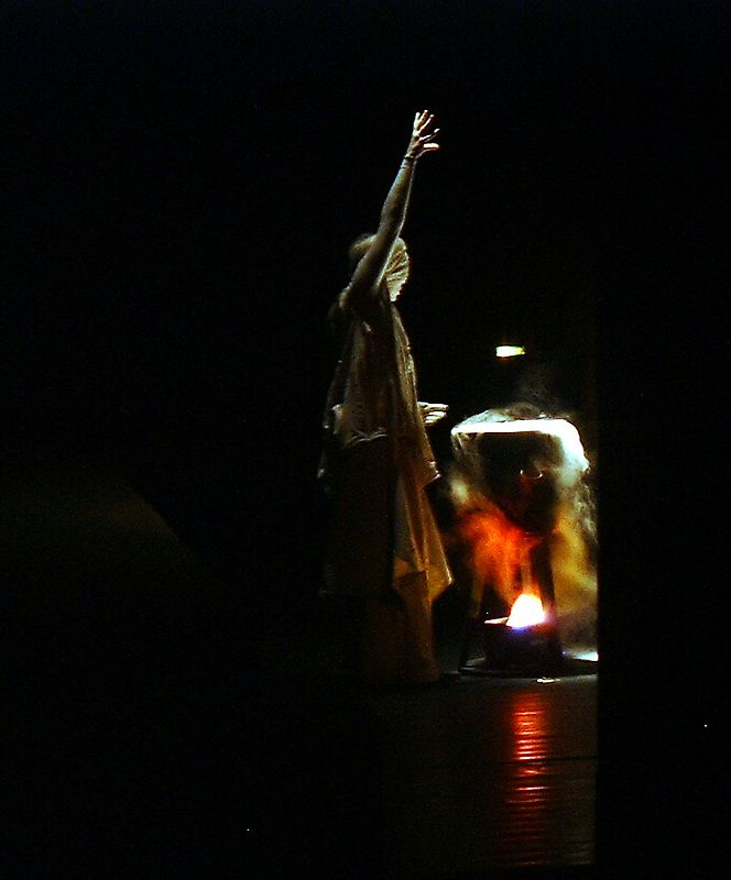 During Macbeth performance in May 2004<br /> fuji mx1700