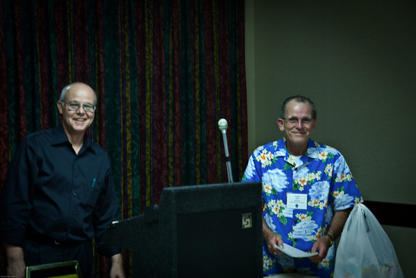 Tom Ham and George Witt after teaching a Management class together. Nice job guys!