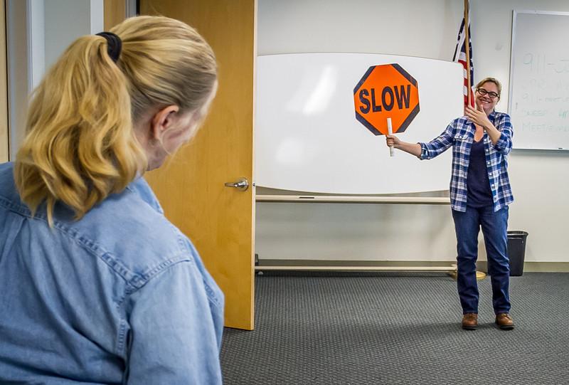 Traffic Control-Flag Training, IBEW 1245