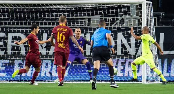 Final Score FC Barcelona 2  vs A.S. Roma 4