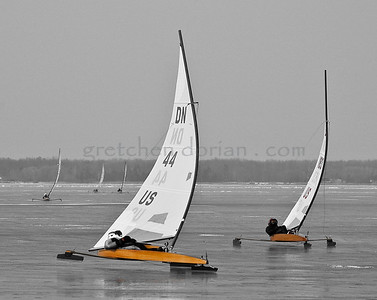 Ron Sherry US 44 and Matt Struble US 183 - duke it out at the Windward Mark