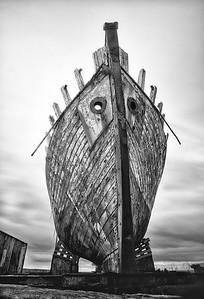 Old Ship in Akranes Shipyard