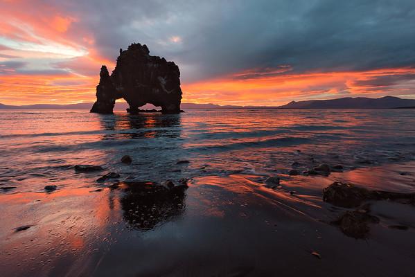 Sunrise, Hvitserkur Arch