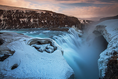 Icelandic waterfall