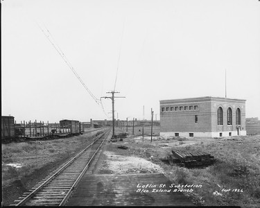 2010.030.PC10.04--lee hastman collection 8x10 print--ICRR--Co Photo view of Blue Island branch substation at Laflin Street--Chicago IL--1926 0900