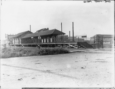 2010.030.PC10.03--lee hastman collection 8x10 print--ICRR--Co Photo view of Blue Island branch commuter depot at West Pullman--Chicago IL--1896 0907