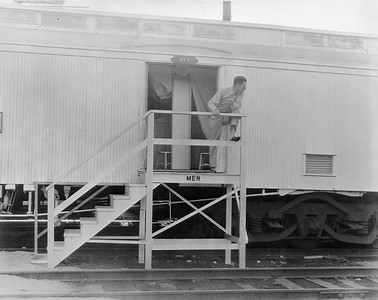 2010.030.PC28.06--lee hastman collection 8x10 print--ICRR--Co Photo view of shower car for the Century of Progress Fair--Chicago IL--1933 0000