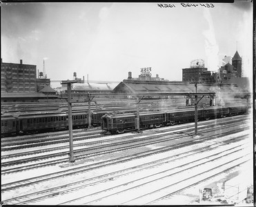2010.030.PC05.13--lee hastman collection 8x10 print--ICRR--Co Photo view of Weldon Yard commuter storage Central Station trainshed--Chicago IL--1926 0726