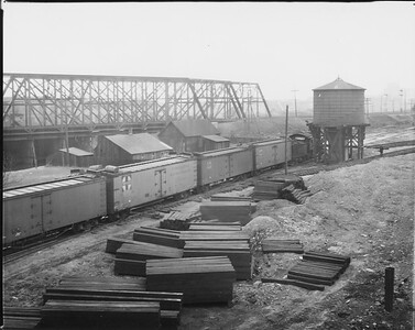 2010.030.PC07.10--lee hastman collection 8x10 print--ICRR--Co Photo view of AT&SF near 31st Street--Chicago IL--no date