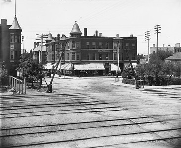 2010.030.PC07.30--lee hastman collection 8x10 print--ICRR--Co Photo view of grade crossing at 57th Street--Chicago IL--1892 0701