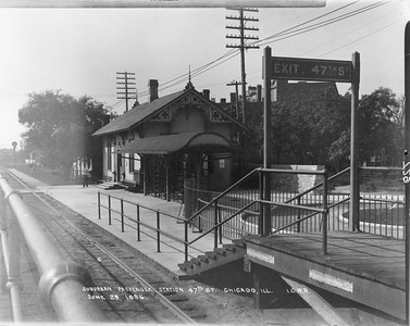 2010.030.PC07.19--lee hastman collection 8x10 print--ICRR--Co Photo view of commuter depot at 43rd Street looking south--Chicago IL--1896 0629