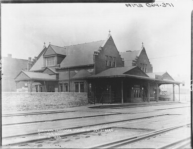 2010.030.PC07.13--lee hastman collection 8x10 print--ICRR--Co Photo view of commuter depot at 39th Street--Chicago IL  1896 0711