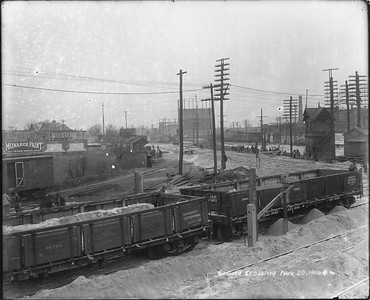 2010.030.PC12.07--lee hastman collection 8x10 print--ICRR--Co Photo view of depot and crossing--Grand Crossing IL--1906 1120