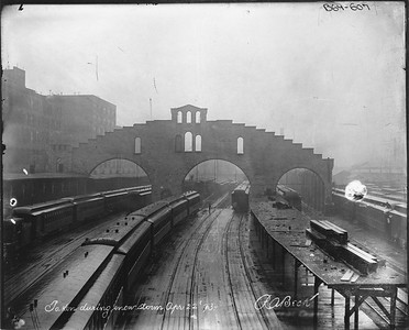 2010.030.PC03.06--lee hastman collection 8x10 print--ICRR--Co Photo view of Randolph Street station--Chicago IL--1893 0422
